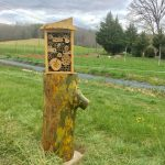 Mason/leafcutter bee housing at Living Web Farms in Mills River, NC